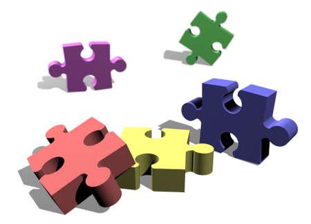Jigsaw puzzle pieces concept