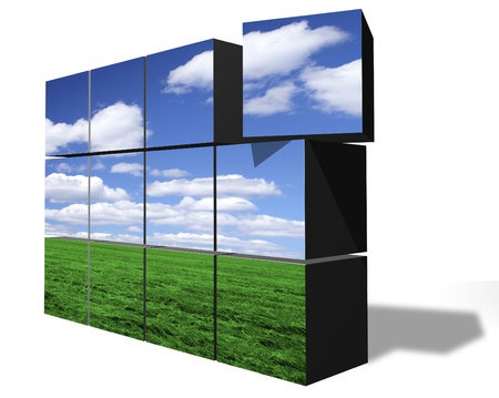 Building clean environment from blocks Stock Photo - 11697069