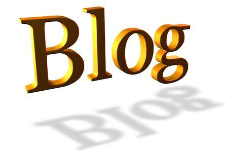 wordpress: Golden blog header on white
