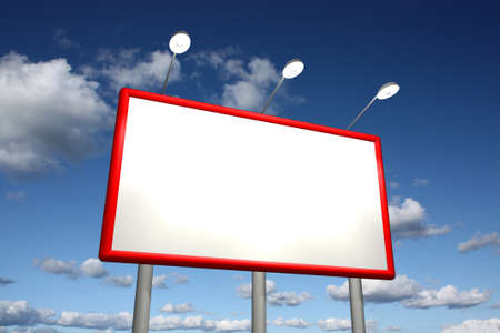 bill board: Billboard with sky background Stock Photo