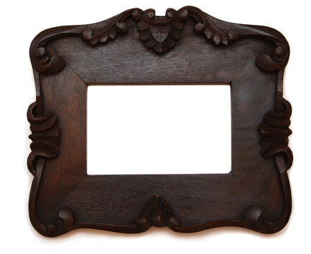 Dark wooden photo frame Stock Photo - 11697070