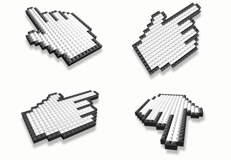 Mouse hand cursor collection