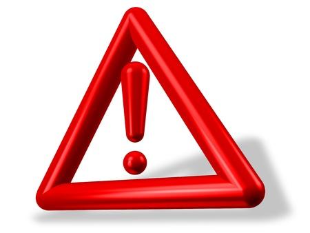 exclamation mark: 3D signo de exclamación dentro del triángulo