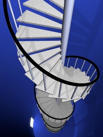spiral stairway: Spiral stairway