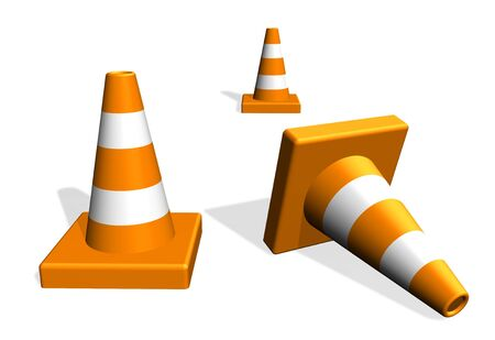 Traffic warning cones  photo