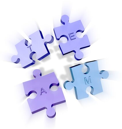 link building: Jigsaw puzzle pieces forming a team