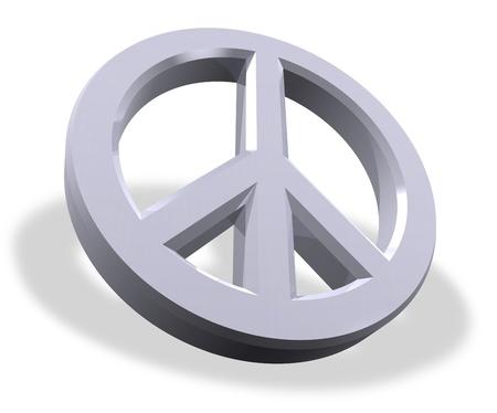 Metallic peace symbol  photo
