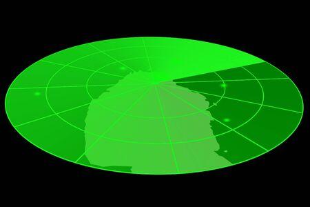 radar gun: Green radar display