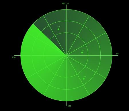 Green radar display Stock Photo - 11697045
