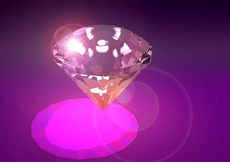 priceless: Diamond shining Stock Photo