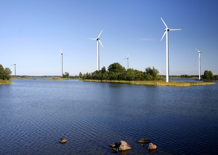 onshore: On-shore wind power farm Stock Photo
