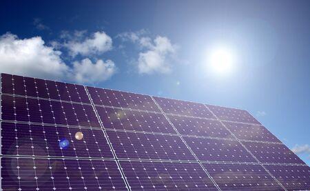 Solar energy panel in sunlight  Stock Photo