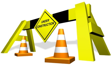 Under construction traffic block  Stock Photo - 11696987