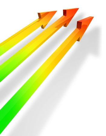 Colorful parallel arrows Stock Photo