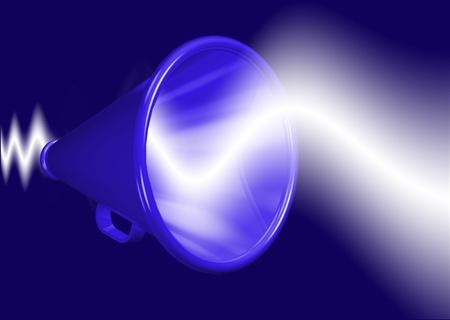 expostulate: Megaphone amplifying voice