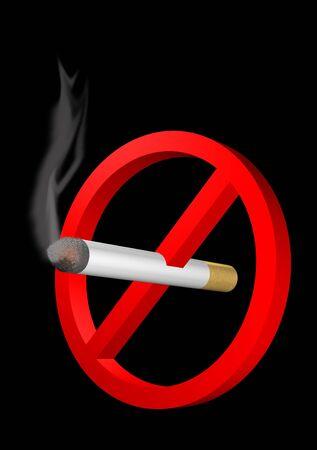 negation: No smoking sign