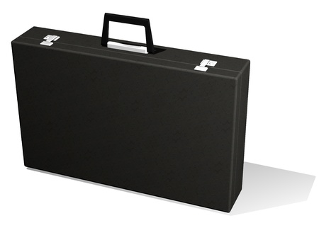 Black business briefcase isolated on white