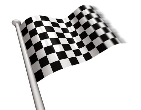 Chequered flag flying  Stock Photo
