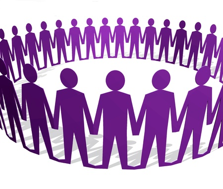 Human figures holding hands in a circle Stock Photo - 11697169