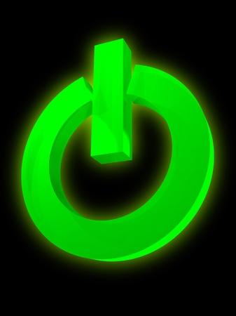 Power switch symbol photo