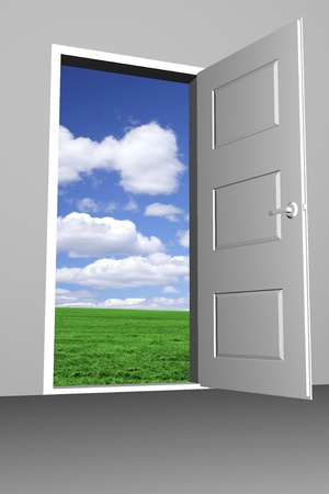 Door to bright new world Stock Photo - 11697167
