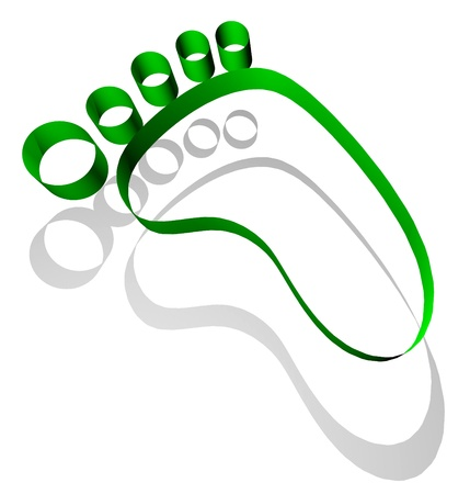 Green footprint  photo