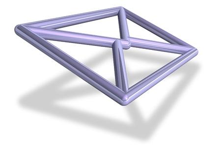 inbox: 3D email envelope symbol