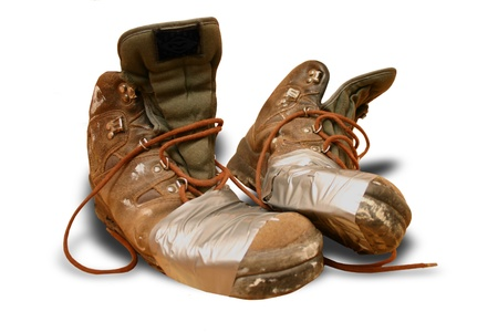 Tramp shoes Stock Photo