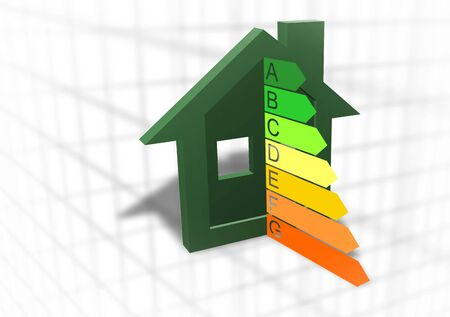 Home energy efficiency symbol Stock Photo