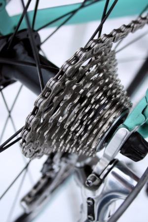 Road bike gears Stock Photo