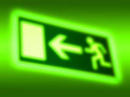 Emergency exit symbol background photo
