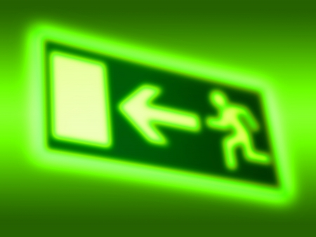 wayout: Emergency exit symbol background