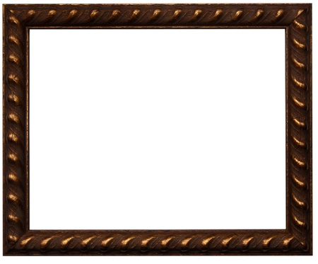 framed picture: Brown photo frame