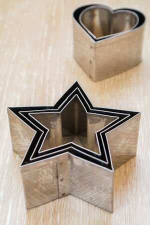 Star shaped pastry cutter with heart photo