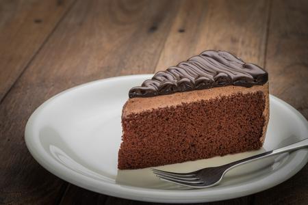 cake plate: Chocolate cake on plate
