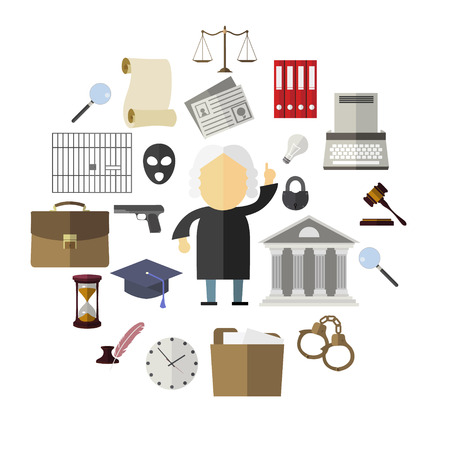 legal: Law, legal and justice icons, set