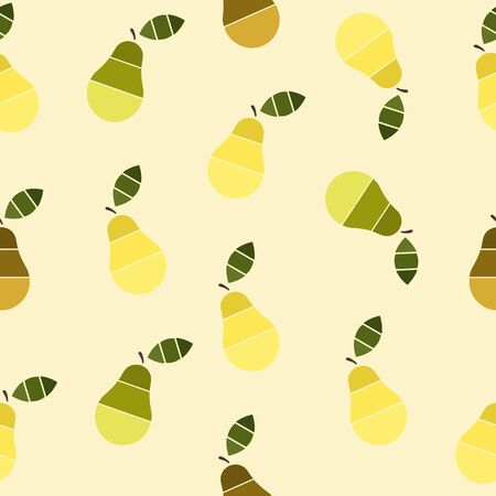 fruity: Fruity abstract  seamless pattern with pears on the background. Vector illustration. Perfect for wallpapers, pattern fills, web page backgrounds, surface textures, textile.