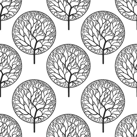 abstract wallpaper: Seamless abstract vector pattern with trees
