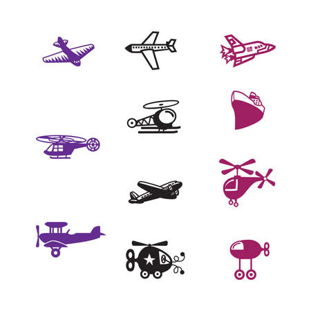 vintage airplane: aircraft icon