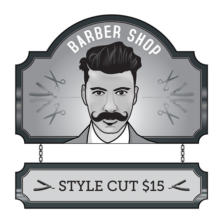 barber: barber sign Illustration