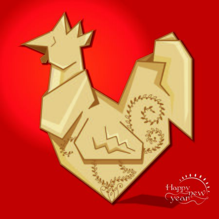 year: year of rooster 8, happy new year