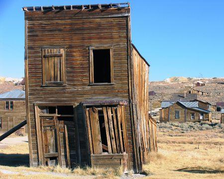 weatherbeaten oude mijnstad hout structuur Stockfoto