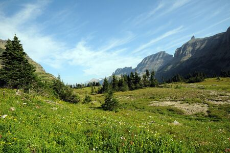 mountainscape: mountainscape at colorful Logan s Pass