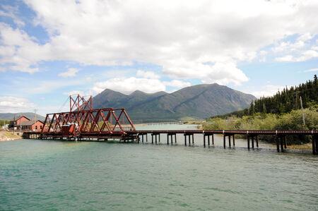 old historic bridge at Yukon Territorys town of Carcross