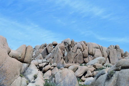 Joshua Tree National Park, California, offers a wealth of many shaped granite rock formations.