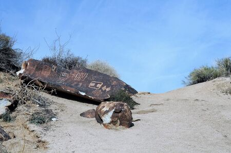Native American petroglyphs at Grapevine Canyon near Laughlin, Nevada, offers one-thousand-year-old art work.