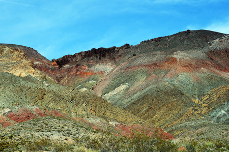 Rolling hills of Titus Canyon, part of Death Valley, Californias colorful desert landscape Stock Photo