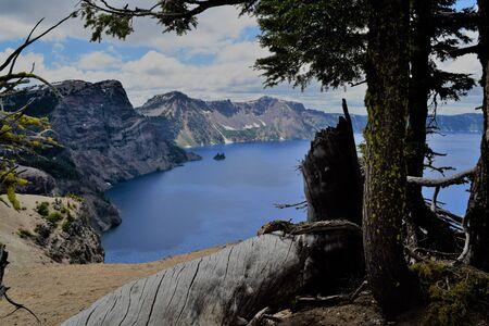 Deep Blue Crater Lake, Oregon, Once an Erupting Volcano