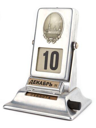 calendario escritorio: Calendario de escritorio aislado sobre fondo blanco Foto de archivo