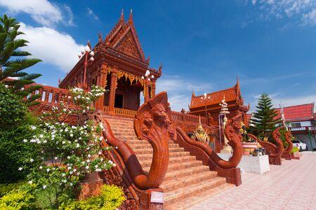 lintel: The beautiful brown temple  wat thai , Bangkok, Thailand Stock Photo